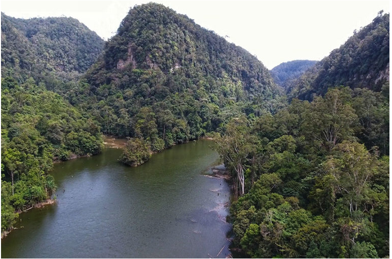 The Batang Toru River, the proposed power source for a Chinese-funded hydroelectric dam. Image by Ayat S. Karokaro/Mongabay-Indonesia.